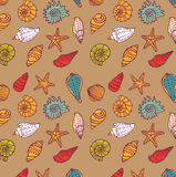 Sea seamless pattern Royalty Free Stock Images