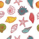 Sea seamless pattern Royalty Free Stock Photo