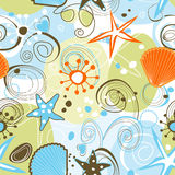 Sea seamless pattern vector illustration
