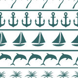 Sea seamless pattern background vector ilustration Stock Photo