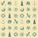 Sea seamless pattern royalty free stock photos
