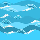 Sea seamless pattern. Royalty Free Stock Images