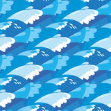 Sea seamless pattern. water vector illustration. Stock Images