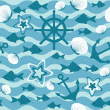 Sea seamless pattern Royalty Free Stock Image