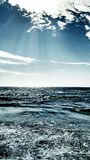 The sea. Seascape with clouds, Siesta key Beach Florida stock photos