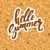 Sea seashell tropical summer beach travel design shell vector Stock Photos