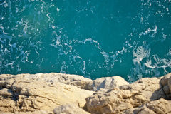 Sea seen from above Royalty Free Stock Photo
