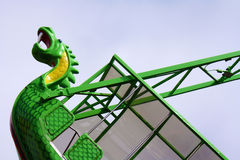 Sea Serpent at Amusement Park Stock Photos