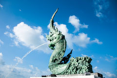 Sea serpent head. On the beach from songkla Royalty Free Stock Image