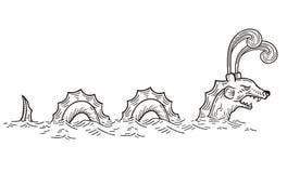 Sea Serpent. Vector Illustration of Sea Serpent Stock Photography
