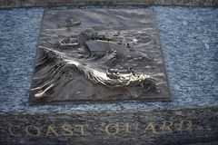 Sea Service members memorial, Coast Guard. The San Francisco Bay Area is, by definition, a port region. It was also the final part of America that most of the Royalty Free Stock Photography