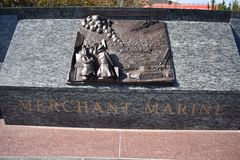 Sea Service members memorial, Merchant Marines. The San Francisco Bay Area is, by definition, a port region. It was also the final part of America that most of Stock Image