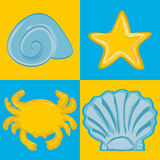 Sea set. Design elements for a menu or a card Royalty Free Stock Photo