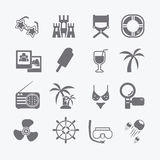 The sea set of icons. Vector Stock Images
