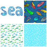 Sea set Stock Images