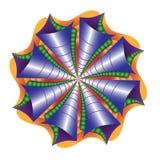 Sea shell abstract mandala stock illustration