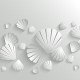 Sea shell background stock illustration
