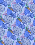 Sea shell background Royalty Free Stock Photo