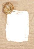 Sea shell with beach sand Royalty Free Stock Photos