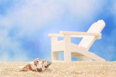 Sea Shell and Chair Stock Image