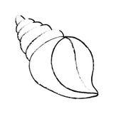 Sea shell creature. Icon  illustration graphic design Stock Image