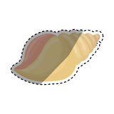 Sea shell creature. Icon  illustration graphic design Royalty Free Stock Photos
