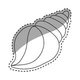 Sea shell creature. Icon  illustration graphic design Royalty Free Stock Photography