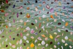Sea shell curtain Stock Photo