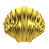 Sea shell. 3d illustration  on white background Royalty Free Stock Photos
