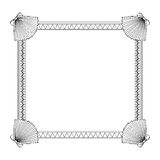 Sea shell frame. In black and white Royalty Free Stock Photography