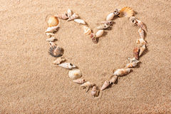 Sea shell heart shape Royalty Free Stock Photo