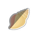 Sea shell isolated. Icon  illustration graphic design Royalty Free Stock Images