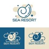 Sea shell logo set Stock Photos