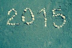 2015 from sea shell Royalty Free Stock Photo