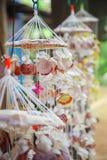 Sea shell pendants. Many sea shell pendants art for sale Stock Photos