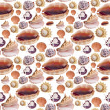Sea Shell Seamless Background Pattern Royalty Free Stock Images