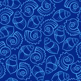 Sea shell seamless pattern Royalty Free Stock Photo