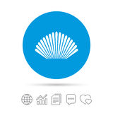 Sea shell sign icon. Conch symbol. Travel icon. Stock Photography