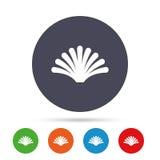 Sea shell sign icon. Conch symbol. Travel icon. Stock Photos