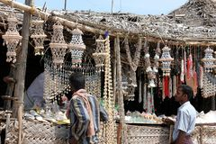 Sea Shell Souvenir Shop in Rameswaram, India Royalty Free Stock Images