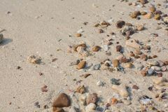 Sea shell and stone pieces texture Royalty Free Stock Photos