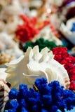 Sea shells. Decoration motive background Stock Photo