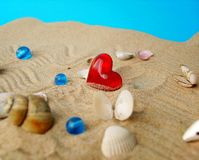 Sea Shells And Heart Stock Photography