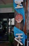 Sea shells decorations royalty free stock photos