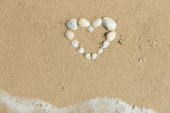 Sea shells forming heart Royalty Free Stock Images
