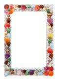 Sea shells frame. Isolated on white background Royalty Free Stock Image