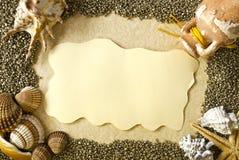 Sea shells frame Stock Photo