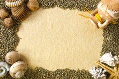 Sea shells frame Stock Image