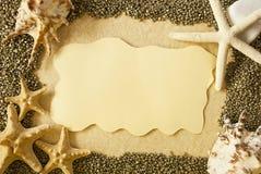Sea shells frame Stock Photos