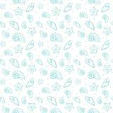 Sea shells pattern Stock Photo